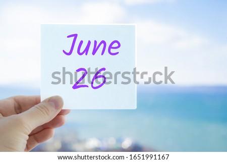 26th June Stock photo © Oakozhan