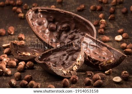 Húsvét csokoládé tojások illusztráció virágok természet Stock fotó © adrenalina