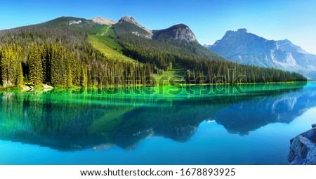 Mountain reflections in scenic Alberta Stock photo © pictureguy