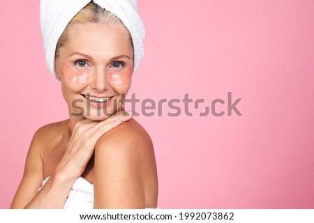 Cute женщину белый полотенце голову Сток-фото © iordani