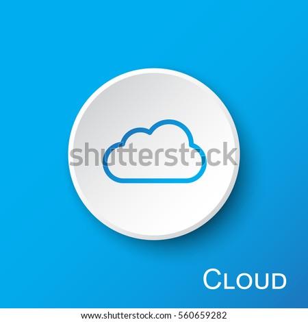 Nube segno vettore web elemento Foto d'archivio © rizwanali3d