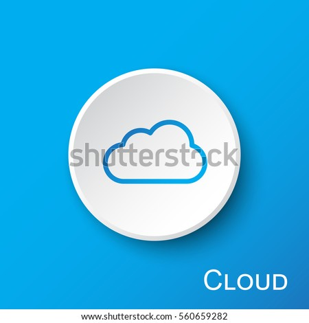 Cloud Sign Round Vector Web Element Circular Button Icon Design Stock photo © rizwanali3d