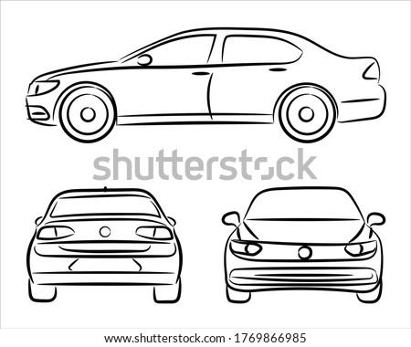 レースカー · 手描き · いたずら書き · アイコン · レース - ストックフォト © rastudio