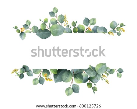Frame template with green tree Stock photo © colematt