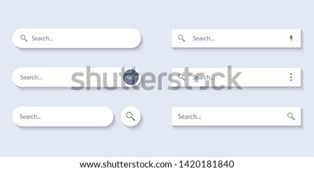 Stock fotó: Keresés · bár · vektor · alkotóelem · terv · szett