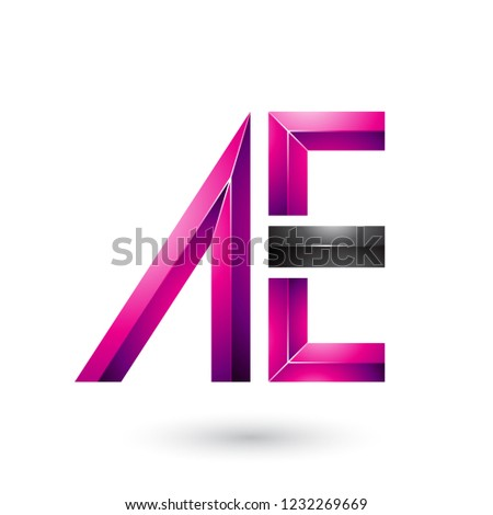 Magenta and Black Glossy Dual Letters of A and E Vector Illustra Stock photo © cidepix
