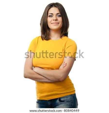 красивой изолированный желтый Сток-фото © deandrobot