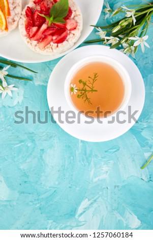 eper · tea · teáscsésze · asztal · gyümölcs · egészség - stock fotó © illia