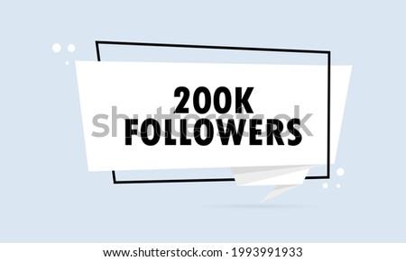 50K Followers, speech bubble. Banner, speech bubble, sticker concept, Stock photo © FoxysGraphic