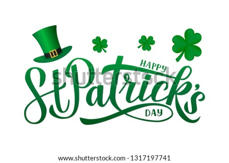 Day poster design template vector St. Patrick Easy to edit elements - Format A4 Stock photo © Natali_Brill