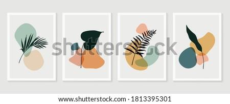 szett · növény · terv · illusztráció · tavasz · absztrakt - stock fotó © colematt