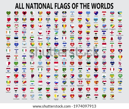 Gyűjtemény vektor zászlók Európa űrlap szívek Stock fotó © butenkow