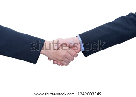 clipping path, Businessmen shaking hands on city background. Dou Stock photo © Freedomz