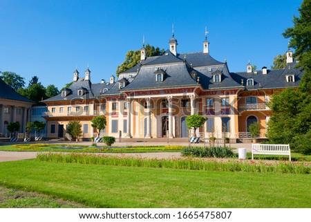 Paleis Duitsland barok dresden rivier huis Stockfoto © borisb17