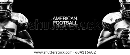 Silhouet amerikaanse voetballer gedetailleerd sport man Stockfoto © Krisdog