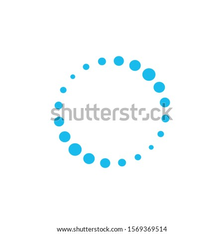 Dotted letter O, circle dots Logo template. loading symbol. Stock Vector illustration isolated on wh Stock photo © kyryloff