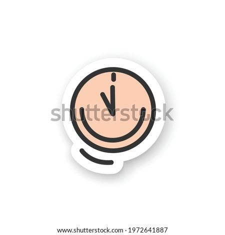 Stijlvol kleurrijk cartoon sticker klokken zon Stockfoto © barsrsind
