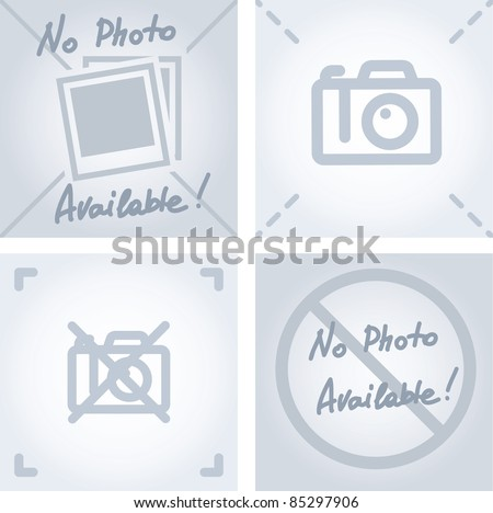 Icon for not available symbol, Stock Vector illustration isolated on white background. Stock photo © kyryloff