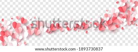 Szczęśliwy walentynki papieru czerwony różowy biały Zdjęcia stock © olehsvetiukha