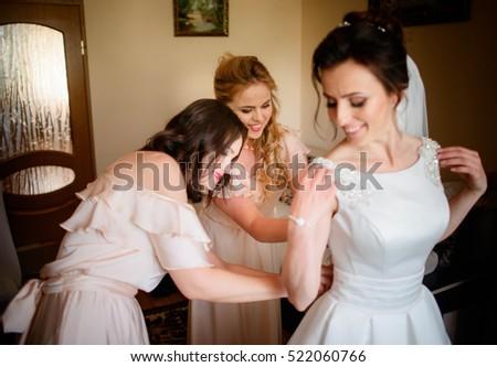 Porträt ziemlich weiblichen Braut wunderbar weiß Stock foto © vkstudio