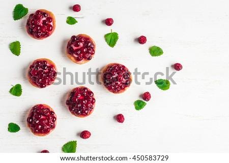 cake with cowberry Stock photo © olira