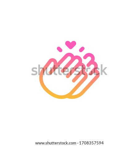Hand Clapping Icon Vector Outline Illustration Stock photo © pikepicture