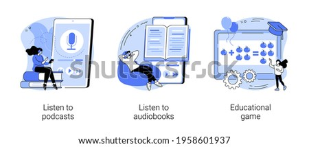 Gamified learning system vector concept metaphors. Stock photo © RAStudio