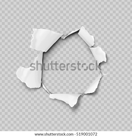 Papír lyuk valósághű vektor szakadt papír darab Stock fotó © designer_things