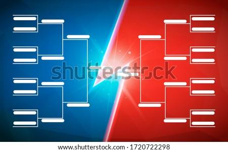 Turniej szablon 16 zespoły niebieski czerwony Zdjęcia stock © evgeny89