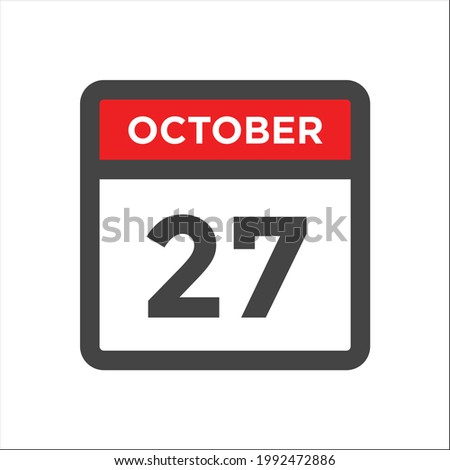 Simple black calendar icon with 7 october date isolated on white Stock photo © evgeny89
