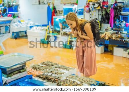 ママ 市場 生 シーフード ストックフォト © galitskaya