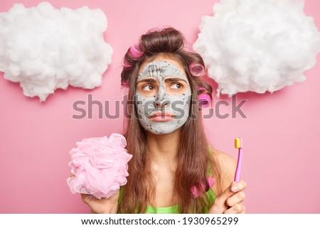 Mensen vrouwen schoonheid persoonlijke zorg donkere Stockfoto © vkstudio