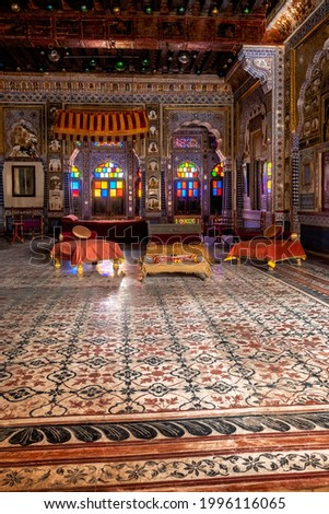 Takhat Vilas Maharaja Takhat Singh's Chamber room in Mehrangarh fort. Jodhpur, Rajasthan, India Stock photo © dmitry_rukhlenko