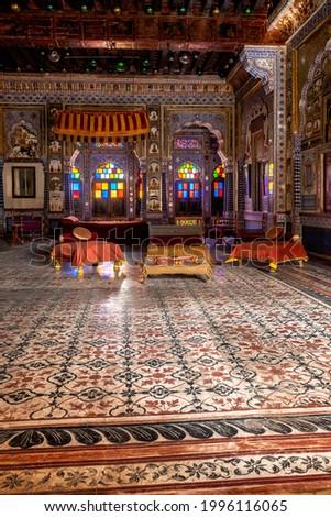 ルーム 砦 インド 装飾された インテリア アーキテクチャ ストックフォト © dmitry_rukhlenko
