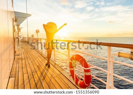 Navio de cruzeiro férias mulher viajar Foto stock © Maridav