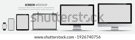 Vector scherm sport horloge digitale object Stockfoto © nickylarson974