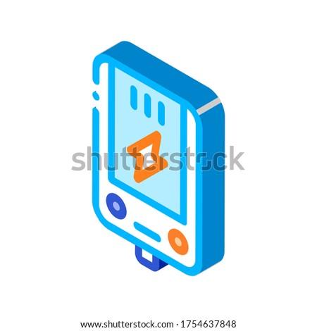 Elektronikus fő- fűtés izometrikus ikon vektor Stock fotó © pikepicture