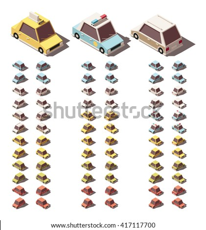 Classical Car Isometric Icon Vector Illustration Stock photo © pikepicture