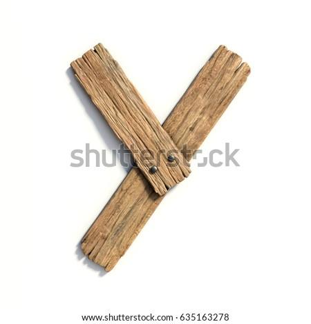 Stock photo: Wooden alphabet isolated on white background.