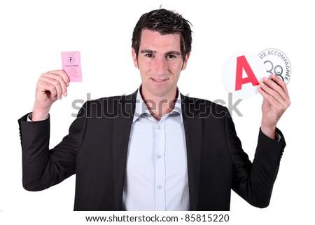 человека костюм французский драйвера лицензия Сток-фото © photography33