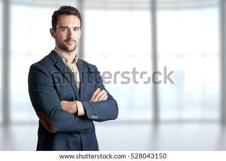 Businessman with arms crossed Stock photo © grafvision