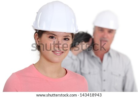 Portrait of a young tradeswoman with her boss in the background Stock photo © photography33