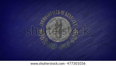 Bayrak Kentucky tahta boyalı tebeşir amerikan Stok fotoğraf © vepar5