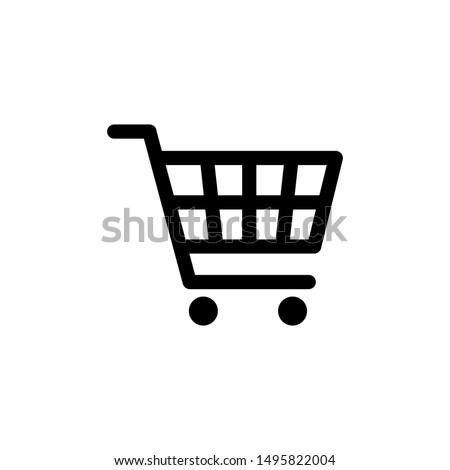 shopping icons black with reflection stock photo © ecelop