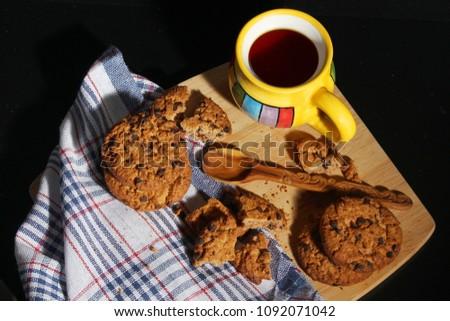 Azúcar taza café cookies blanco fondo Foto stock © wavebreak_media