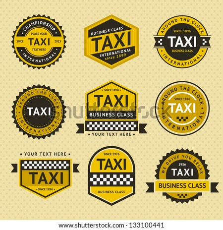 taxi badges   vintage style stock photo © ecelop