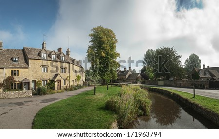 Kilátás folyam utca Anglia víz fa Stock fotó © jayfish