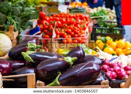 frische · Lebensmittel · Markt · Essen · Halle · Zitrone · Bananen - stock foto © meinzahn