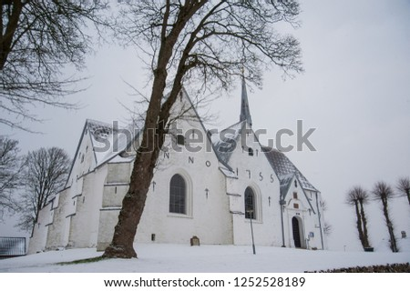 architectural cross at a village decorated for christmas time Stock photo © alex_grichenko
