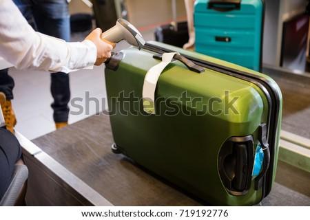 багаж иллюстрация Камера проверить аэропорту чемодан Сток-фото © adrenalina